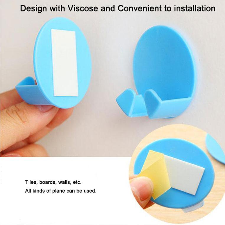 Plastic Adhesive Plug Hook Bracket