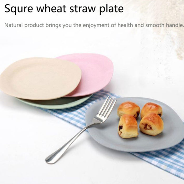 BPA Free Wheat Straw Tableware Plate