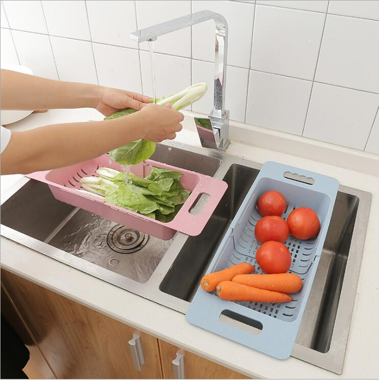 Retractable Washing Fruit Drain Basket