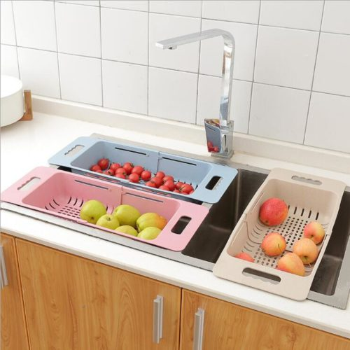 Retractable Washing Fruit Drain Basket