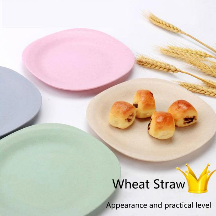 BPA Free Wheat Straw Tableware Plate