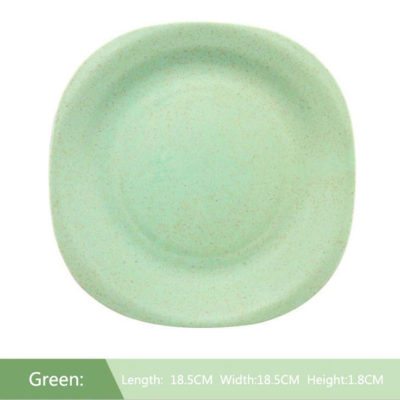 Why wheat straw material tableware plate