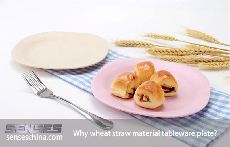 Why wheat straw material tableware plate?