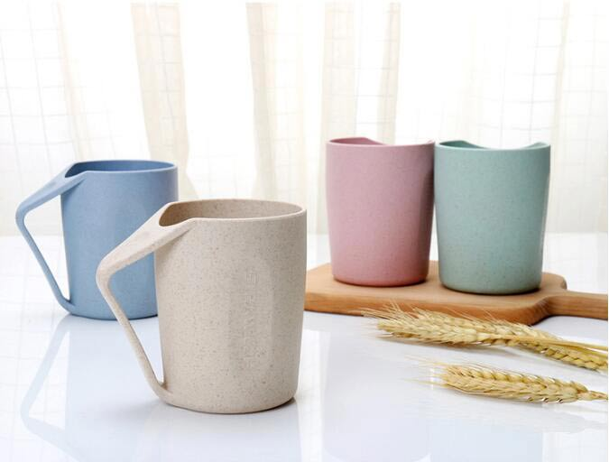 Wheat Straw Couple Water Cup