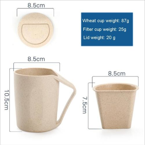 Wheat Straw Couple Water CupWheat Straw Couple Water Cup