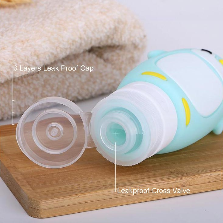 Best Leak Proof Soft Squeeze Silicone Travel Bottles Supplier