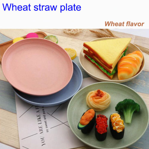 Wheat Straw Healthy Eco Friendly Plates