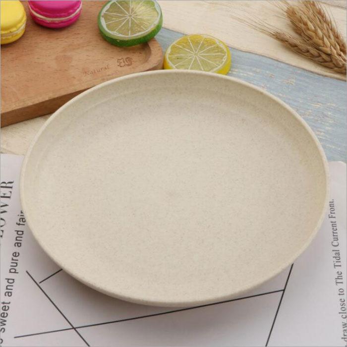 Wheat Straw Healthy Eco Friendly Plates