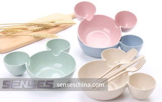 Wheat straw baby plates supplier China