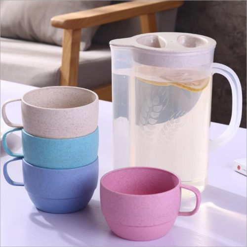 Wheat straw drinkware water kettle and cup sets