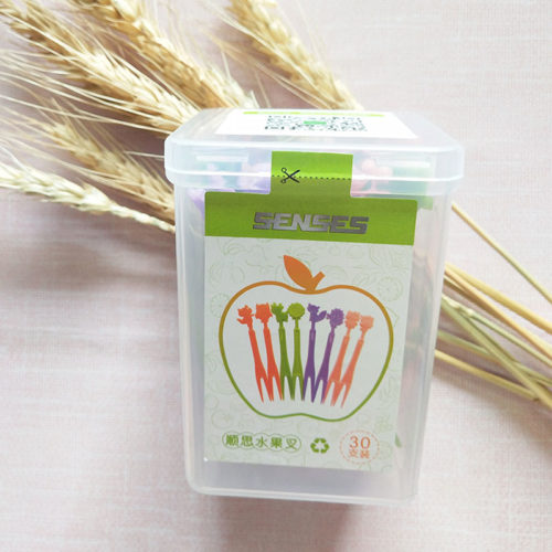 Eco Food-grade plastic fruit fork supplier